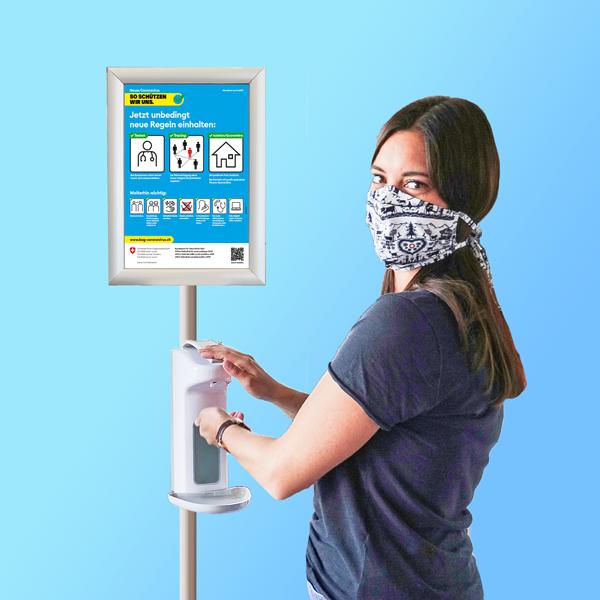 Desinfektionsmittel-Ständer