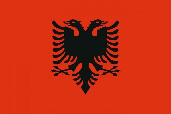 Albanien Länderfahnen