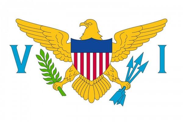 Amerikanische Jungferninseln Länderfahnen