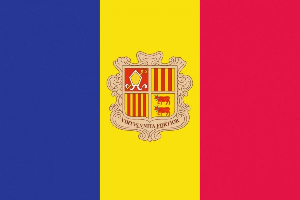 Andorra Länderfahnen