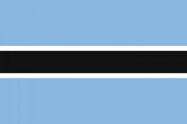 Botswana Länderfahnen