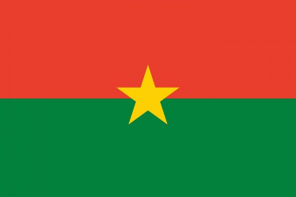 Burkina Faso Länderfahnen