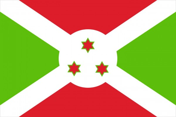 Burundi Länderfahnen