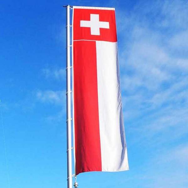 Schweizer Auslegerfahne Hochformat