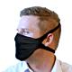 Schwarze Stoffmaske mit Viroblock perfekt für den Wintersport.