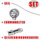 Seil-Ersatzteile-Set (Seil, Seilverbindungsbride und Fahnenhalter)